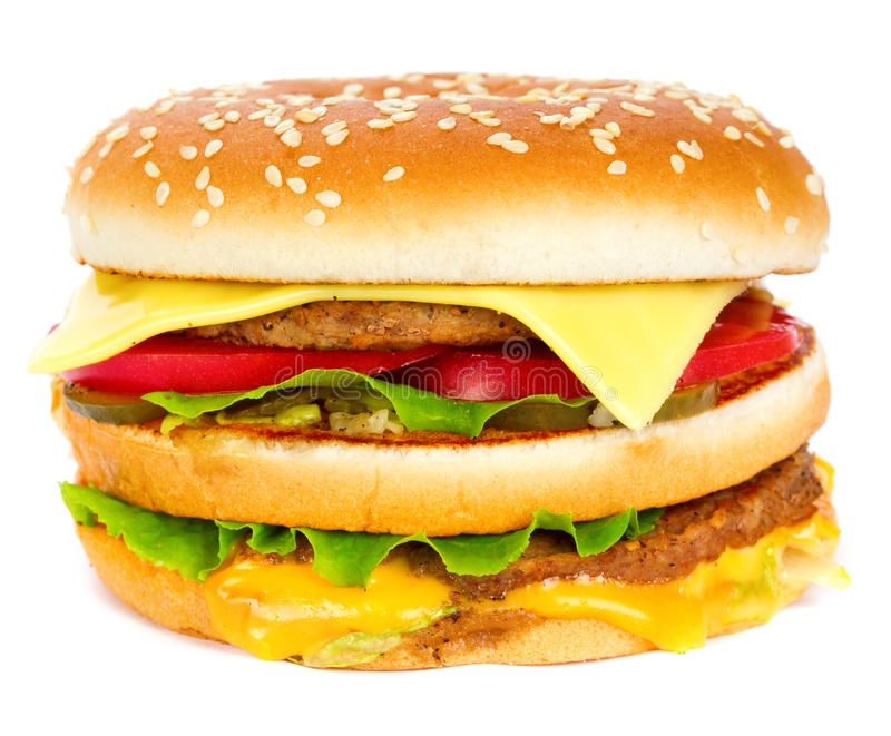 Download Cheeseburger stock photo. Image of food, icon, meal, bread - 20268162