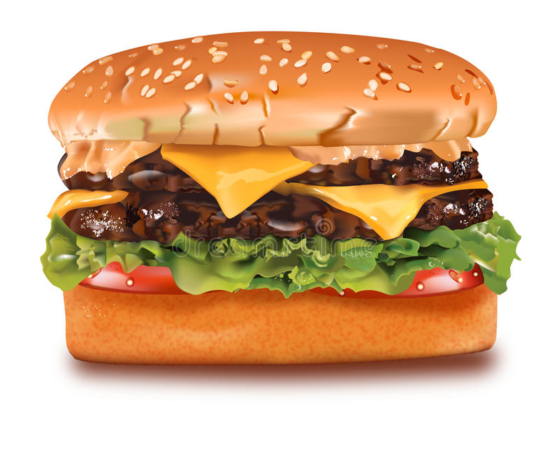Cheeseburger illustration libre de droits