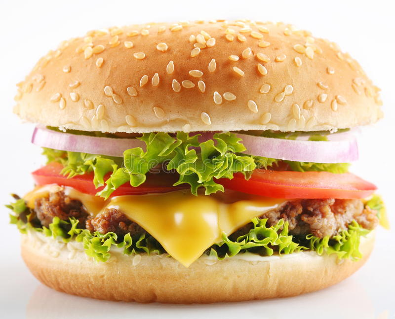 Cheeseburger. immagine stock