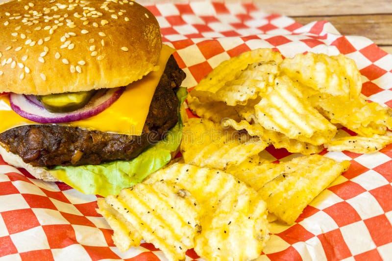 cheeseburger foto de archivo