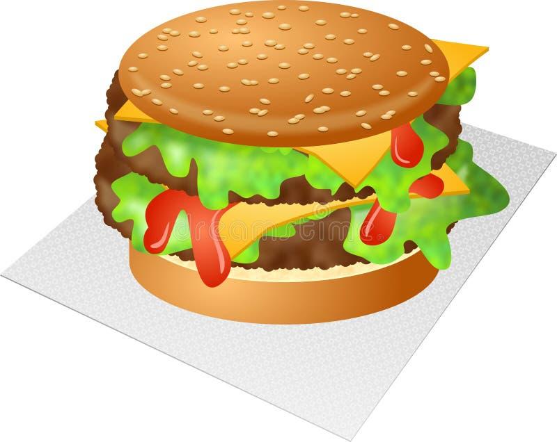 Cheeseburger ilustração do vetor
