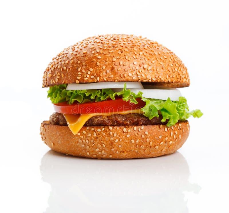 cheeseburger royalty-vrije stock afbeeldingen