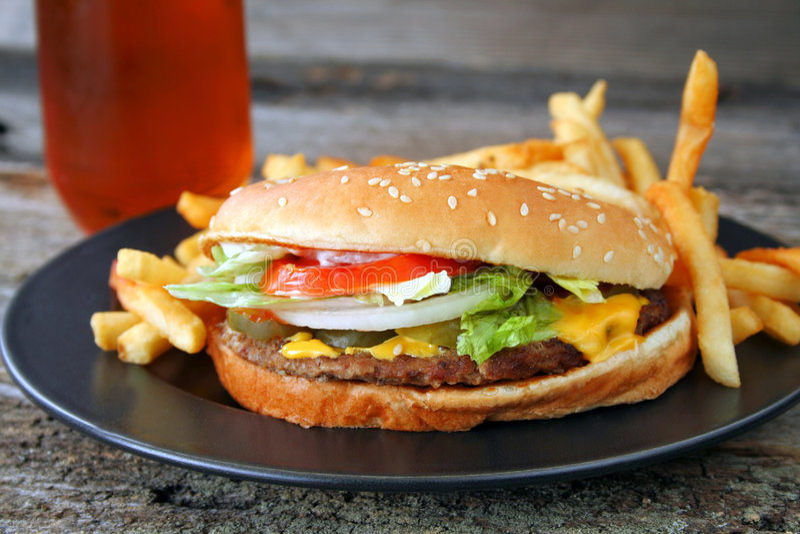 cheeseburger arkivbilder