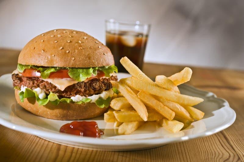 Cheeseburger fotografía de archivo libre de regalías