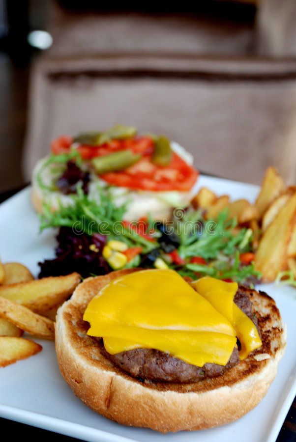Download Cheeseburger stock image. Image of fast, meat, barbecue - 7220655
