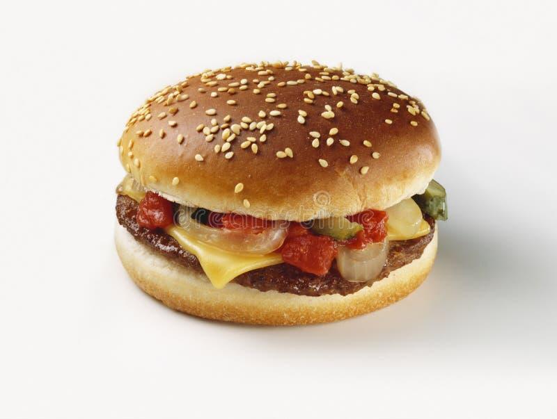 Cheeseburger fotografia stock libera da diritti