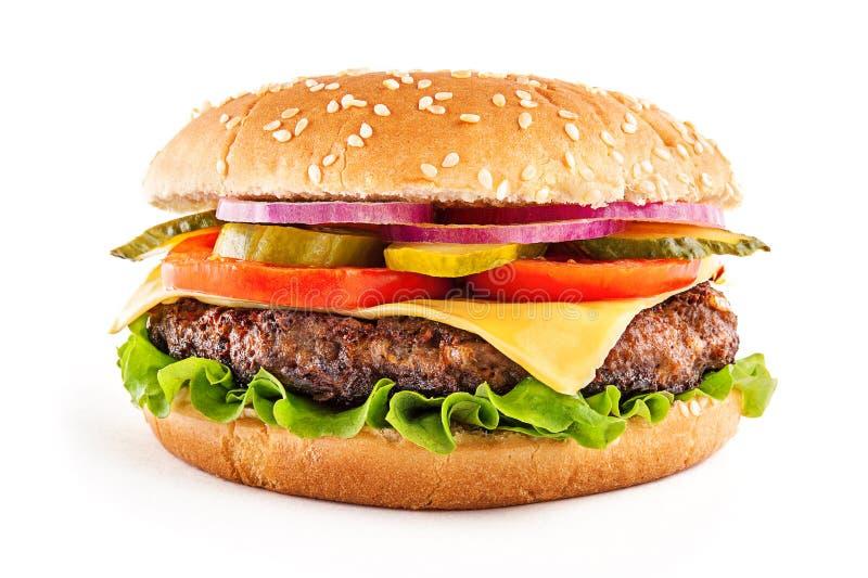 Cheeseburger clásico foto de archivo libre de regalías
