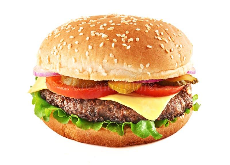Cheeseburger clásico fotografía de archivo libre de regalías