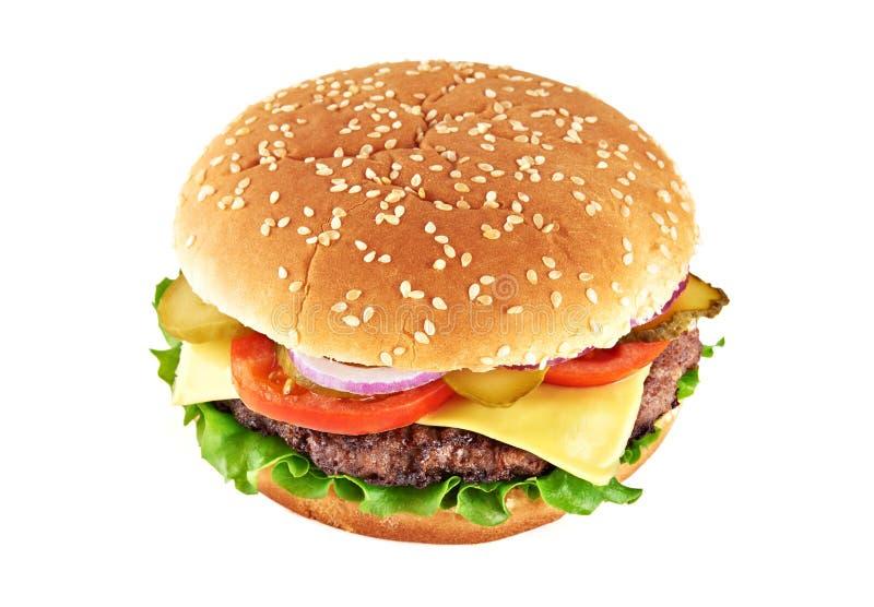 Cheeseburger clásico imagenes de archivo