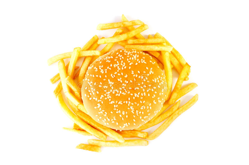 Cheeseburger d'isolement photographie stock