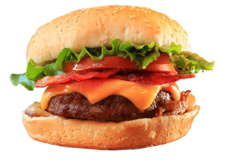 Cheeseburger de lard photos libres de droits
