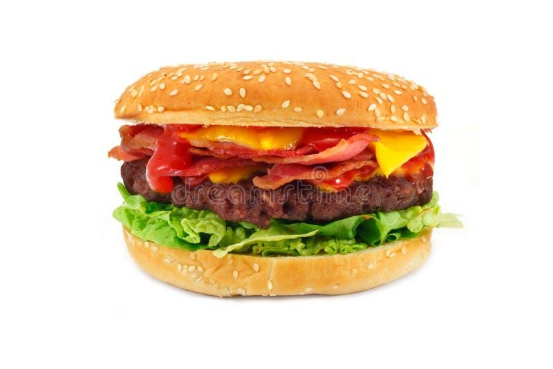 Cheeseburger do bacon fotografia de stock royalty free