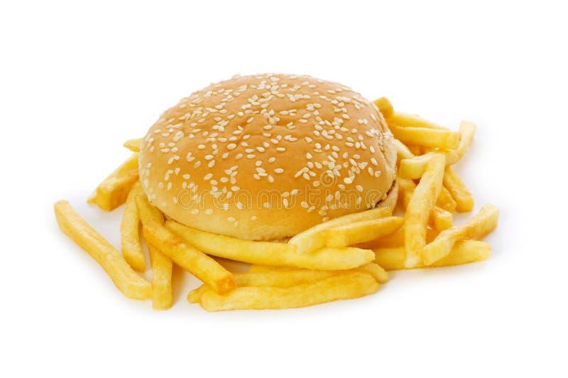 Cheeseburger getrennt lizenzfreies stockfoto