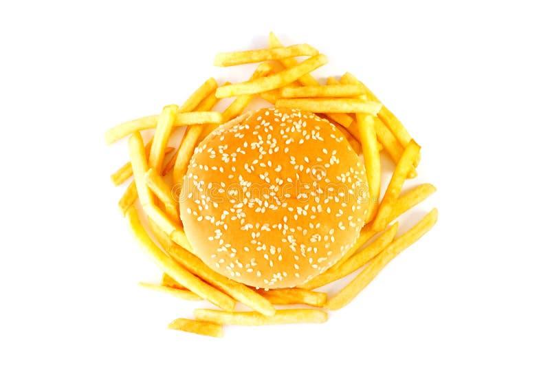 Cheeseburger getrennt stockfotografie