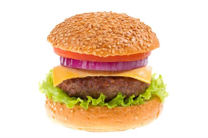 Cheeseburger getrennt lizenzfreies stockbild