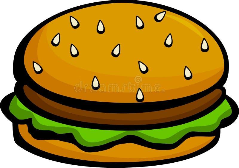 cheeseburger hamburger ilustracja wektor
