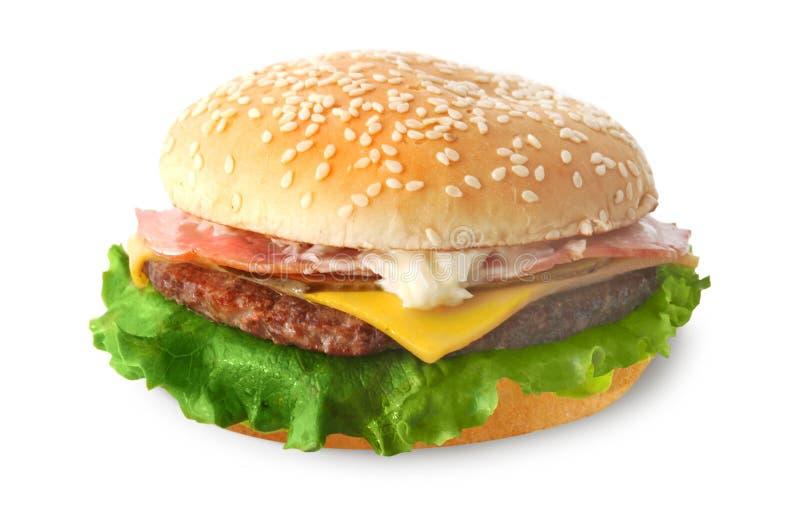 Cheeseburger (isolado) fotografia de stock