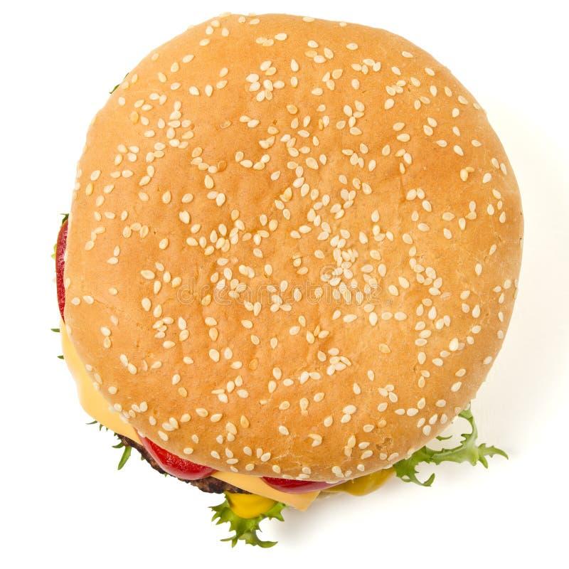 Free Cheeseburger N Mustard Stock Photography - 17835202