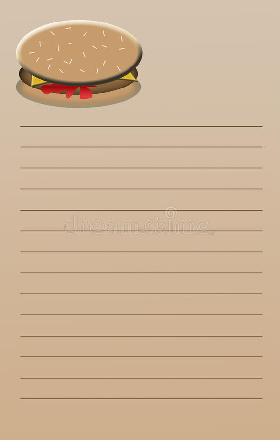 Download Cheeseburger Note Pad stock illustration. Image of note - 34147719