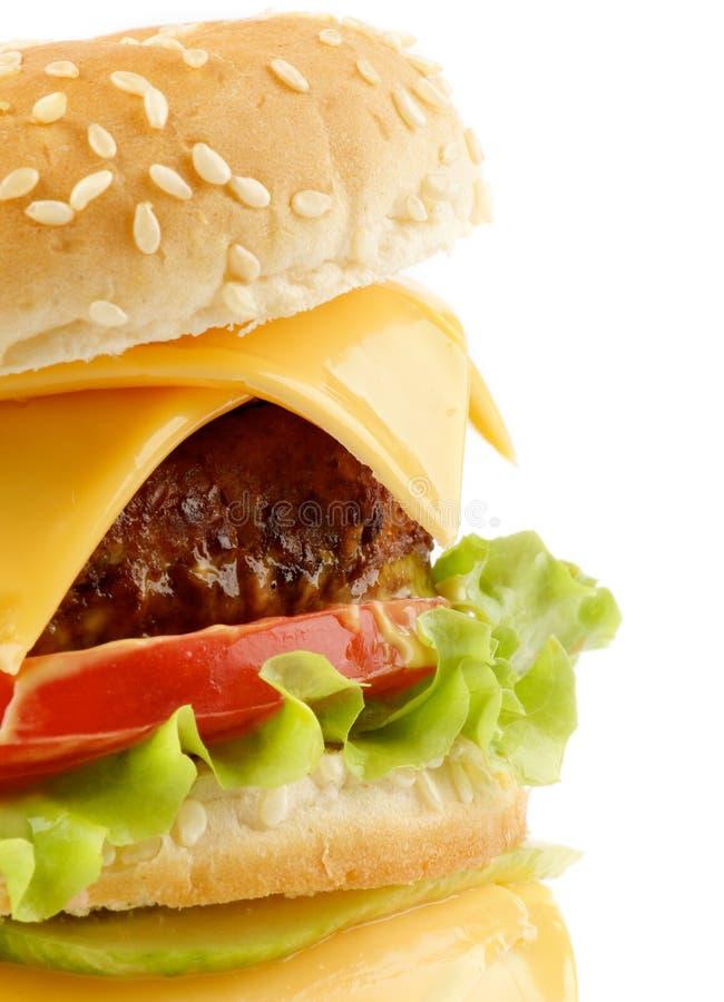 cheeseburger smakowity obraz stock