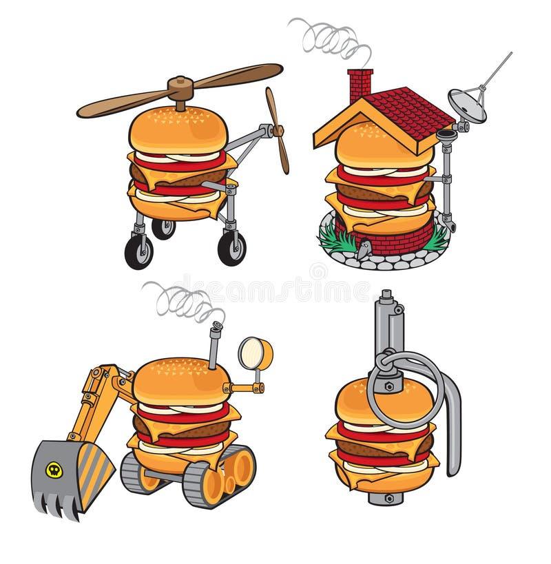 Cheeseburger super ilustração stock