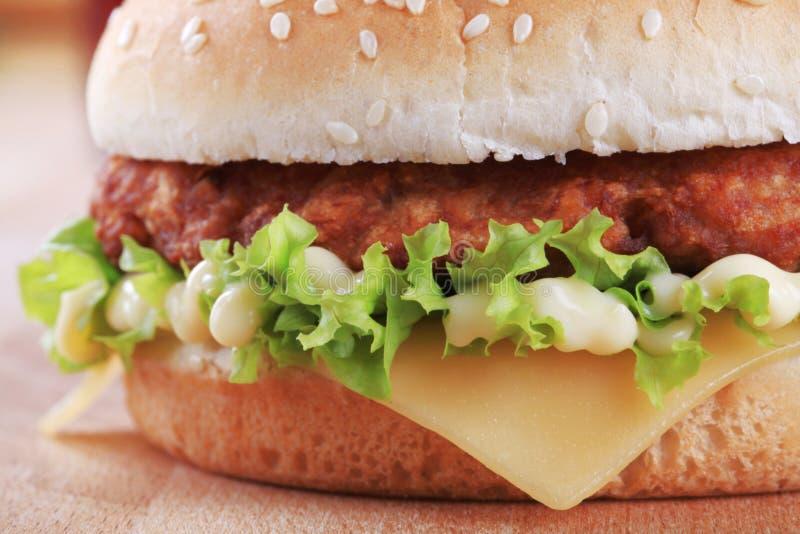 cheeseburgermayonnaise arkivfoto