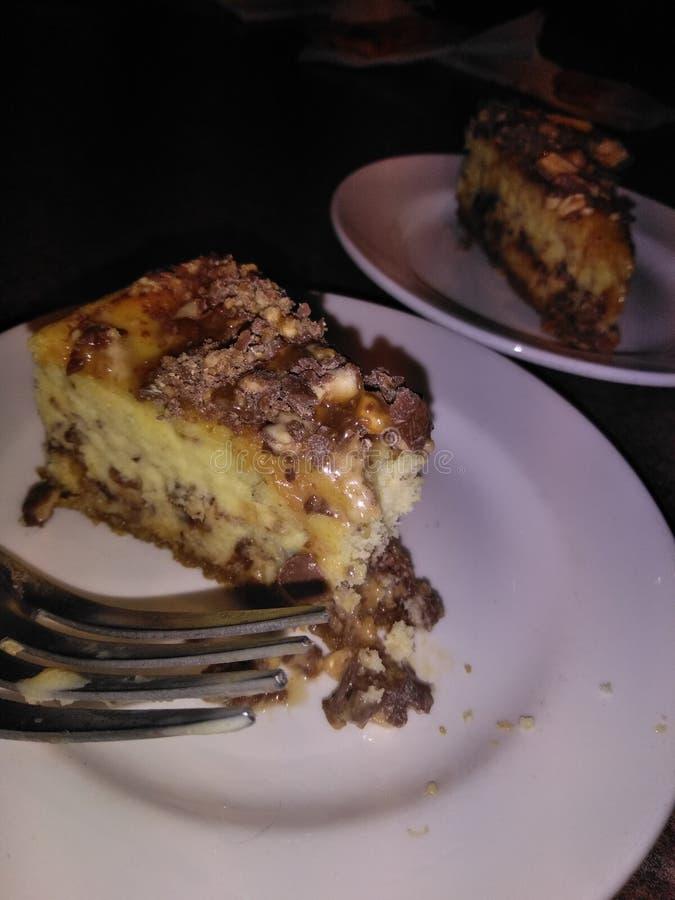 Cheesecake εθισμός στοκ εικόνες