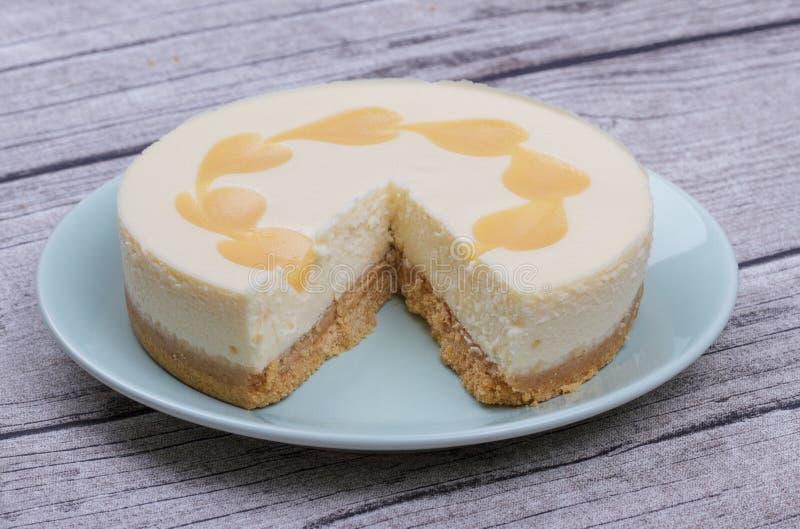 Cheesecake λεμονιών στοκ φωτογραφίες