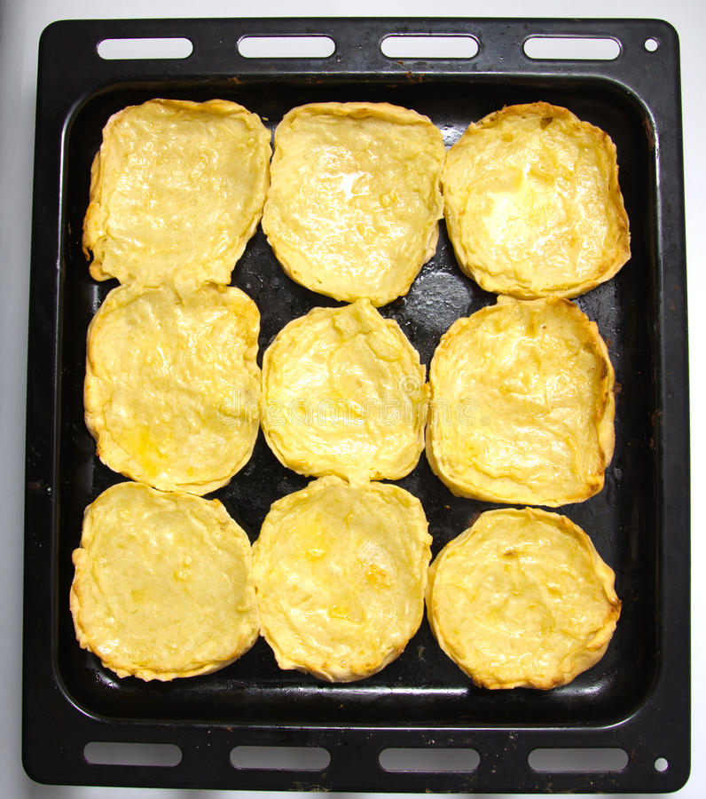 Cheesecake με τις πατάτες στοκ φωτογραφία