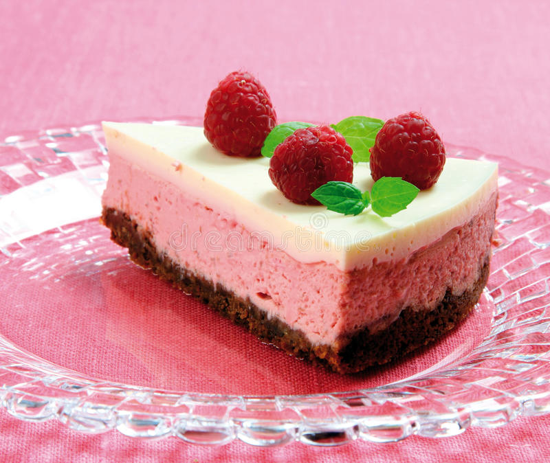 cheesecake σμέουρο στοκ φωτογραφία