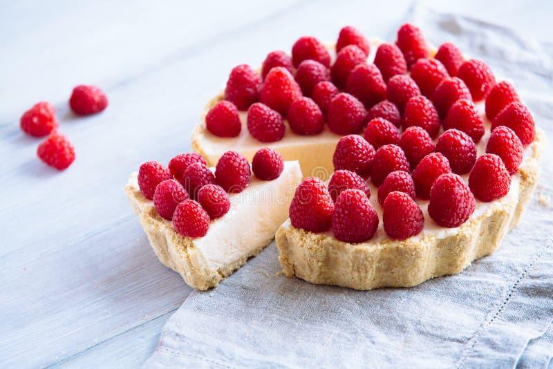 Cheesecake σμέουρων στοκ εικόνες