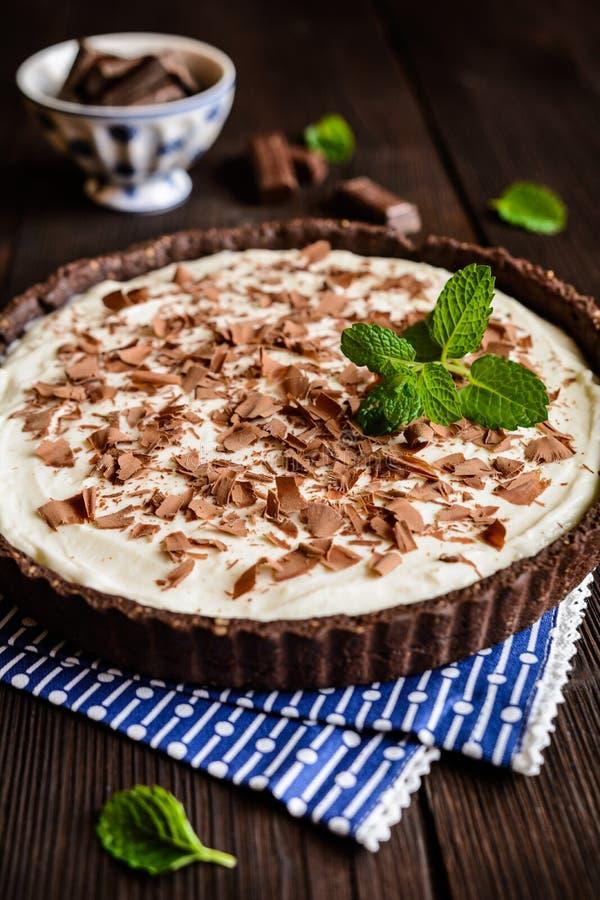 Cheesecake σοκολάτας και βανίλιας στοκ φωτογραφία