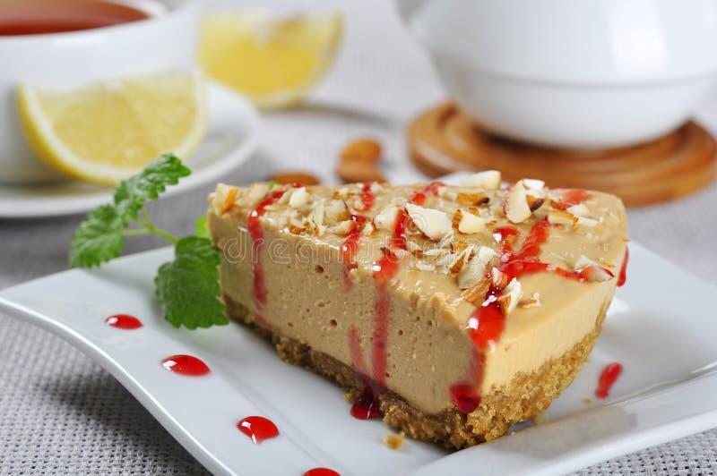 Cheesecake карамельки с миндалиной стоковая фотография rf