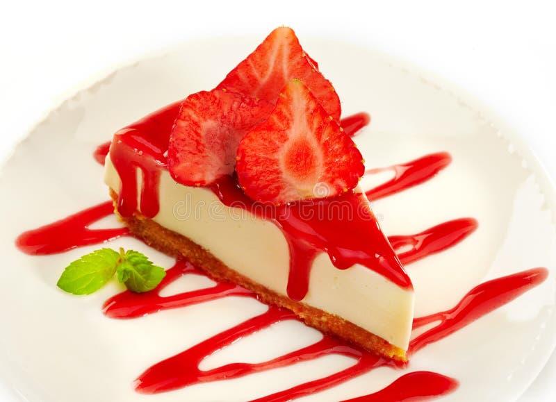 Cheesecake клубники стоковая фотография