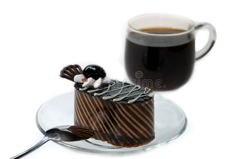 Cheesecake with cofee royalty free stock photo
