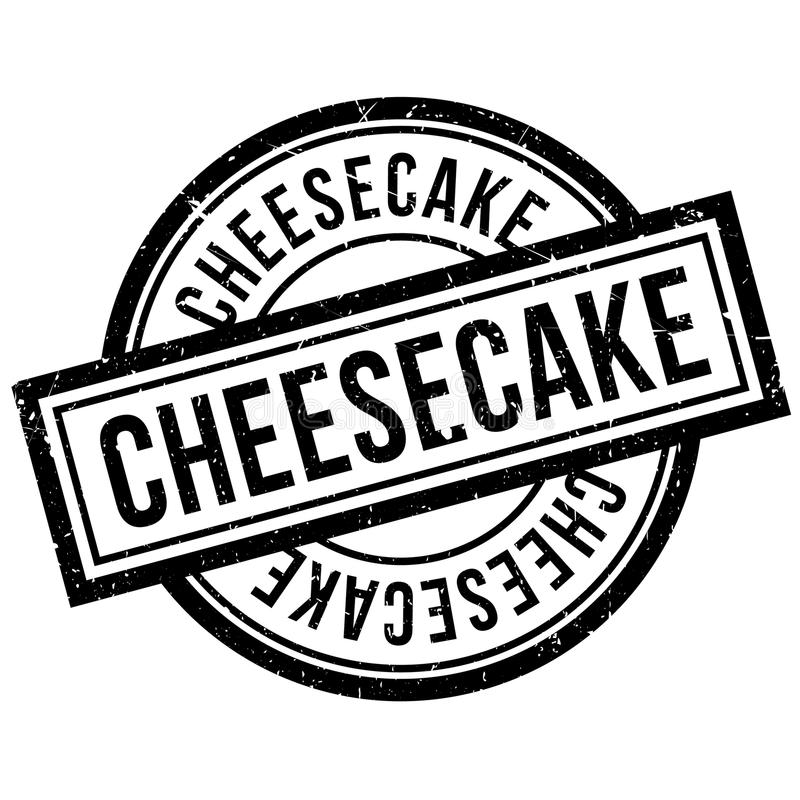 Cheesecake rubber stamp. Grunge design with dust scratches. Effects can be easily removed for a clean, crisp look. Color is easily changed royalty free illustration