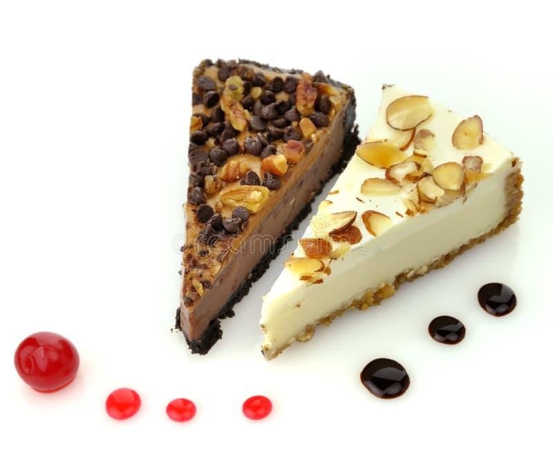 Cheesecake slices stock photos