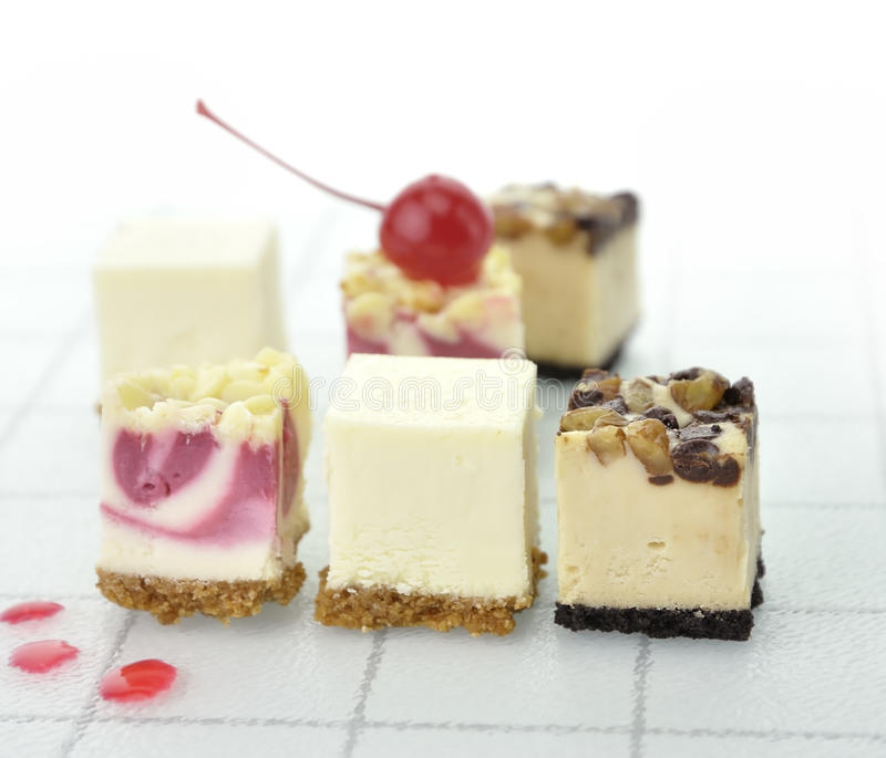 Cheesecake Slices royalty free stock photos