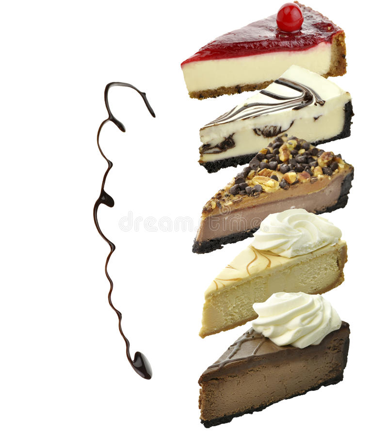 Cheesecake Slices royalty free stock image