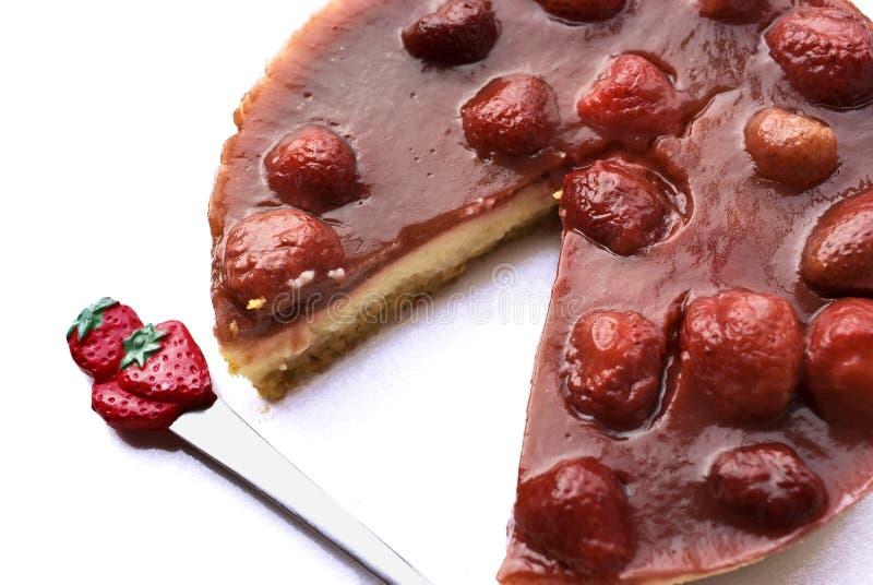 cheesecake truskawka zdjęcia stock