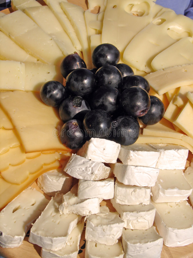 Cheeses plate royalty free stock image