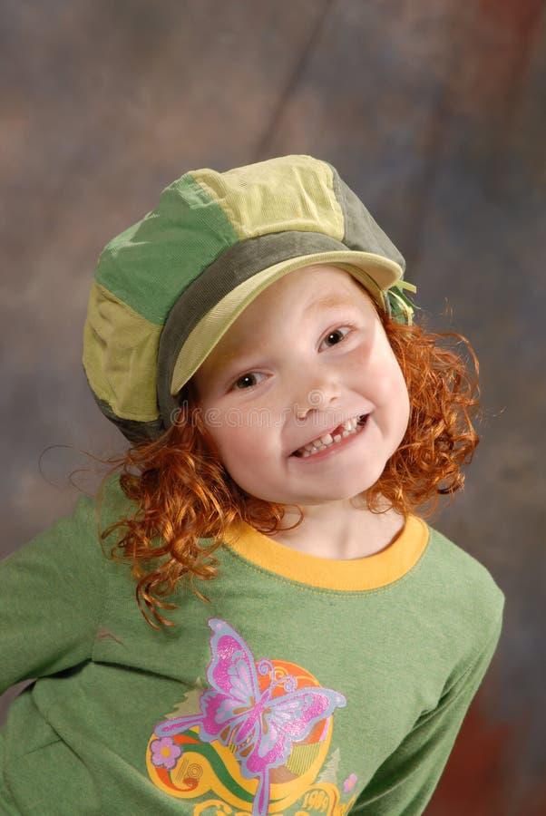 Cheesy Happy Girl stock image