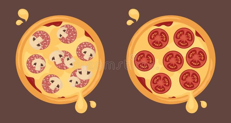 Cheesy Pizzas stock photography