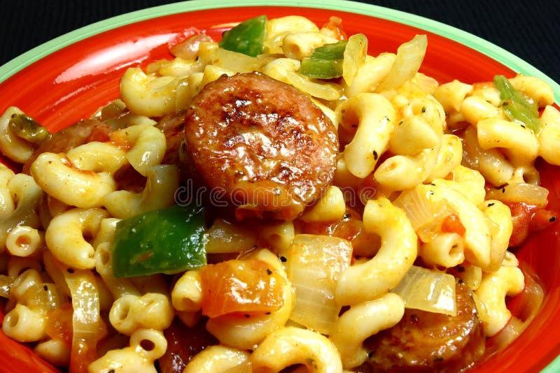 Cheesy Sausage Macaroni Dish royalty free stock image