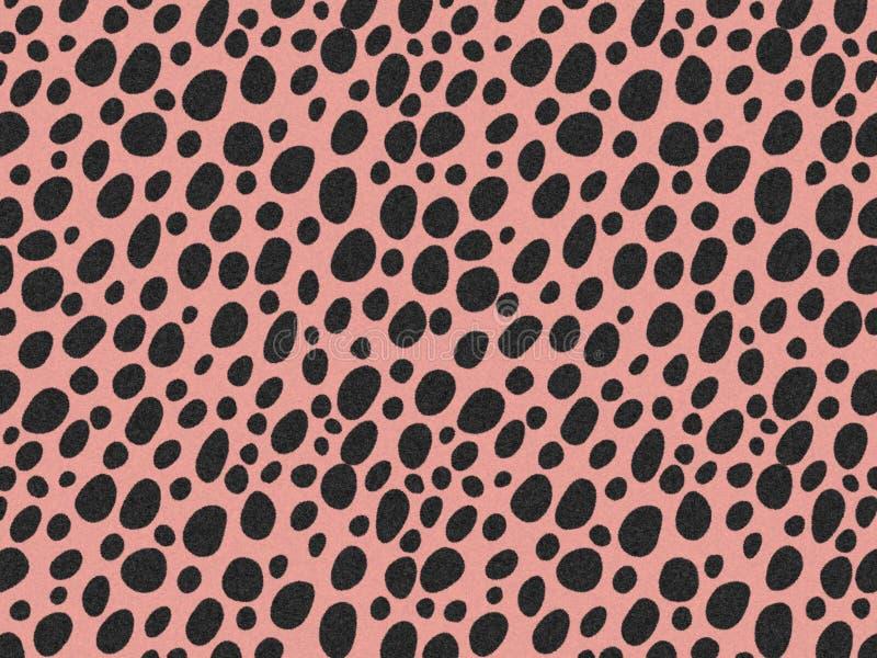 Cheetah Fur Textur, Teppichboden Cheetah bedruckte Haut Hintergrund, Schwarz-Rosa Panther Thema Farbe, sehen glatt, flüssig und w lizenzfreie abbildung