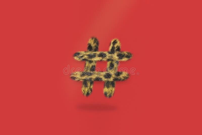Cheetah Hashtag social media stock image