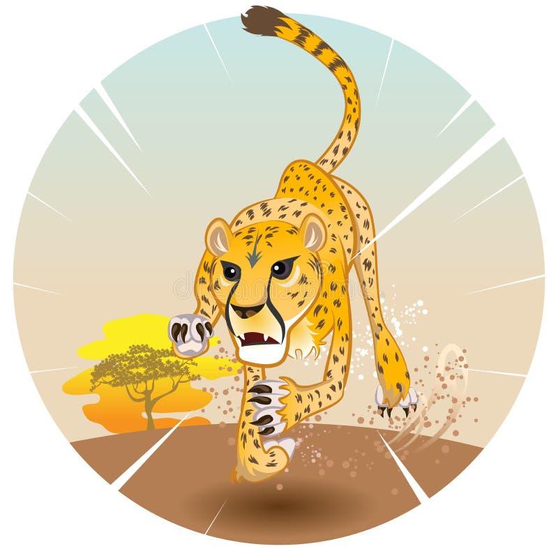 Cheetah King of Speed stock illustration