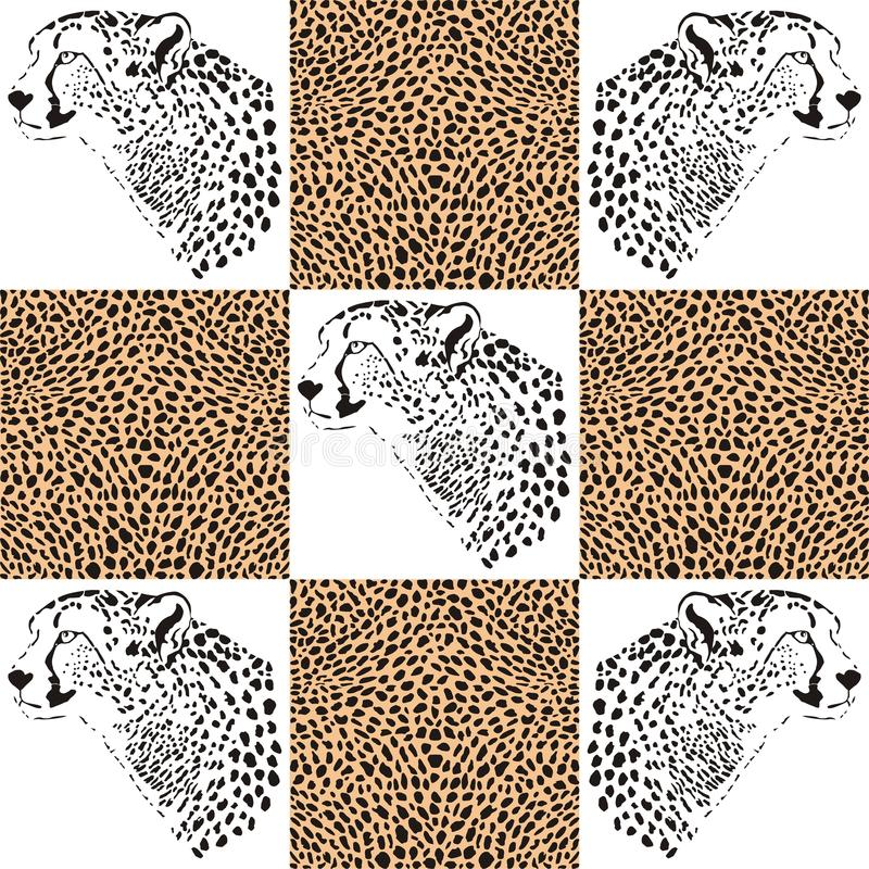 Cheetah Patterns For Textiles And Wallpaper Royalty Free Stock Image