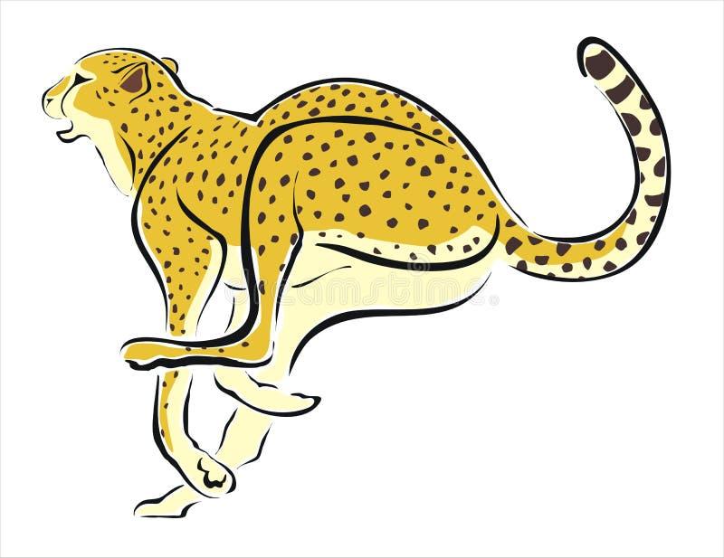 cheetah running 2 stock vector illustration of predator 30734478 rh dreamstime com cheetah running clipart cheetah running clipart