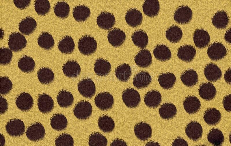 Cheetah texture background stock illustration